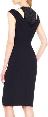 Michael Kors Sequin-Inset Crepe Dress