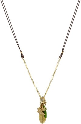 People Tree Charm Necklace - Gold