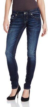 Miss Me Sequin Embellished Flap Pocket Skinny Jean