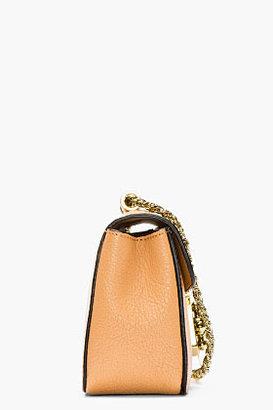 Chloé Beige grained leather mini Elsie bag