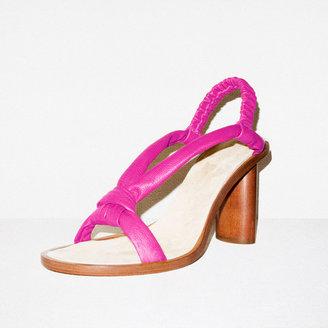 Martha Davis Fuchsia Tube Sandal Heel