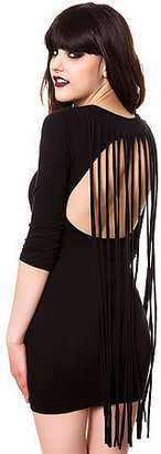 Style Hunter The Fringe Back Mini Dress