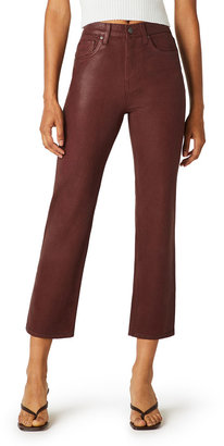 Hudson Remi High-Rise Straight Crop Coated Jeans