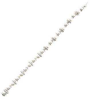 Nadri Pearl & Crystal Line Bracelet