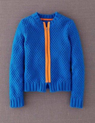 Boden Neon Zip Cardigan
