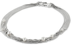 David Yurman Eight-Row Chain Necklace, Pearl