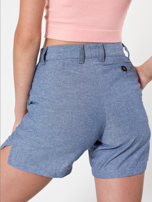 American Apparel Unisex Chambray Welt Pocket Short