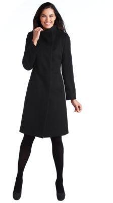 Cinzia Rocca Asymmetrical Wool Coat