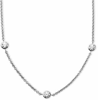 Arabella Sterling Silver Necklace, White Round-Cut Swarovski Zirconia 7-Station Necklace (3-1/6 ct. t.w.)