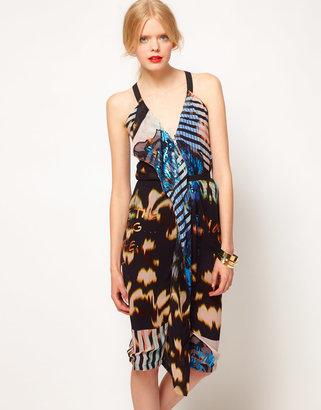 Asos Halter Dress In Print