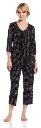 Anne Klein Women's Cropped Sleeve Pajama Set