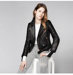 Club Monaco Christy Leather Moto Jacket