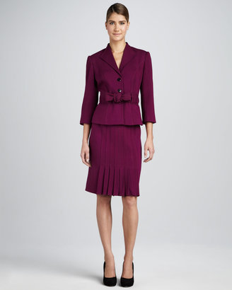 Kay Unger New York Pleated Suit