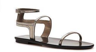 Calvin Klein Collection Lilith Metallic Leather Flat Sandal