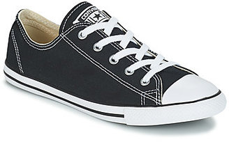 Converse DAINTY CANVAS OX women's Shoes (Trainers) in Black