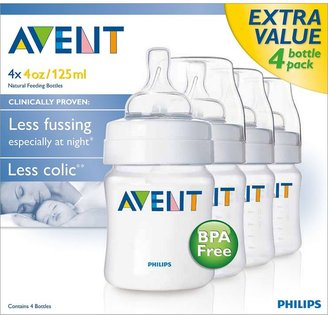 Avent Naturally 4-pk. bpa-free classic feeding bottles - 4 oz.