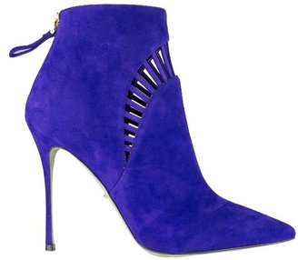 Sergio Rossi Violet Ankle Boots