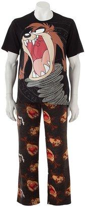 Looney Tunes taz pajama set