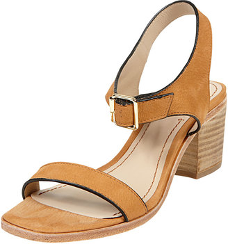 Elizabeth and James Ryann Tipped Leather Mid Sandal, Cognac