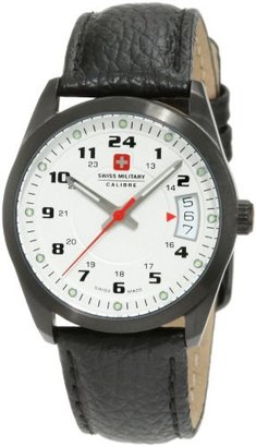 Swiss Military Calibre Women's 06-6T1-13-001 Trooper Black IP Silver Dial 24-Hour Date Watch