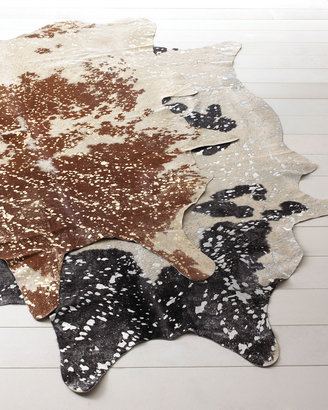 """Horchow """"Speckles"""" Cowhide Rug"""