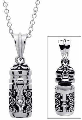 Women's Prayer Keeper Antiqued Capsule Pendant - Silver