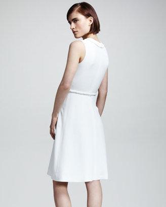 Valentino Braid-Trim Cady Dress