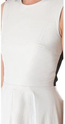 Diane von Furstenberg Jeannie Leather Combo Dress
