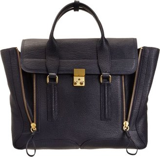 3.1 Phillip Lim Large Pashli Satchel-Blue