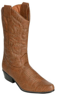 Wet Seal WetSeal Embroidered Cowboy Midcalf Boot Cognac
