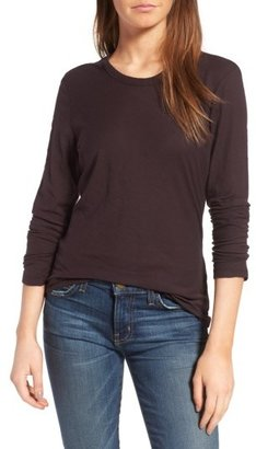 Women's James Perse Long Sleeve Slub Jersey Tee $85 thestylecure.com