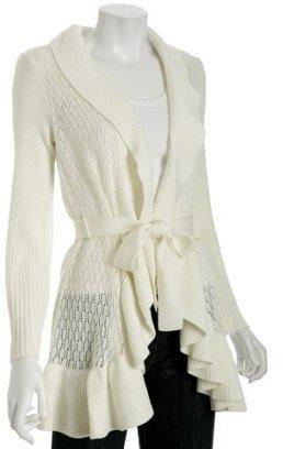 Elie Tahari ivory merino wool 'Lainie' sweater