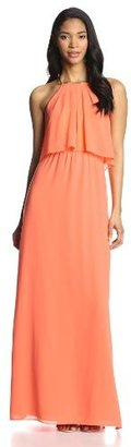 Vince Camuto Women's Halter Maxi Dress with Side Slits