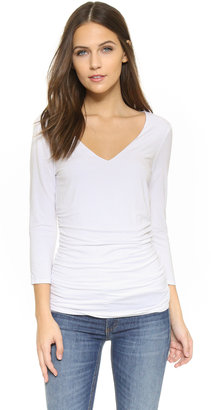 Three Dots Double Layer Top $88 thestylecure.com
