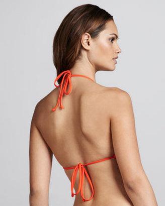 L Space Swimwear by Monica Wise Audrey Fringe Bikini Top