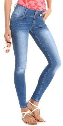 Charlotte Russe Refuge Mid-Rise Ultra Skinny Jean