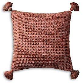 Coyuchi Organic Woven Tassel Decorative Pillow, 20 x 26