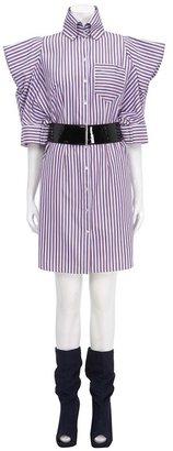 Oxford Stripe Shirt Dress
