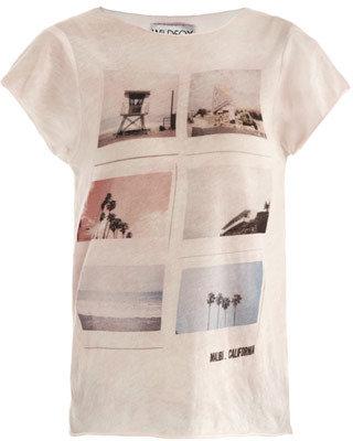 Wildfox Couture Emily Malibu-polaroid print T-shirt