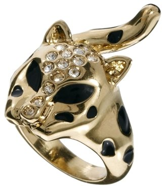 Nali Cheetah Head Ring