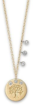 Meira T Diamond and 14K Yellow Gold Tree of Life Necklace, 16
