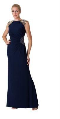 JS Collections Navy Embellished Dress