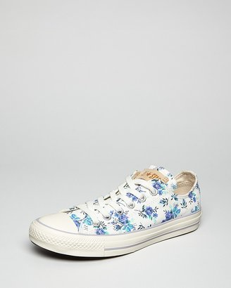 Converse Lace Up Snekers All Star Oxford Floral Print
