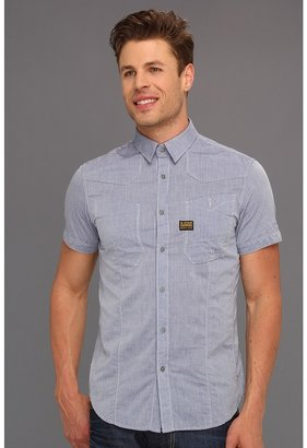 G Star G-Star - Recruit Empire Chambray S/S Shirt (Empire Chambray Ballpen Blue) - Apparel