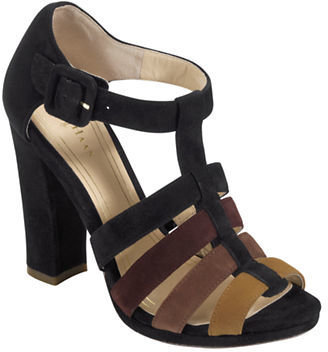 Cole Haan Suede Colorblock T-Strap Sandals