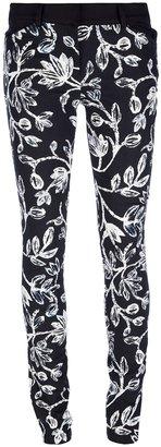 Balenciaga floral print skinny trouser