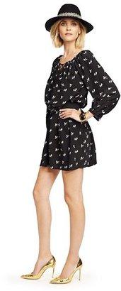 Juicy Couture Silk Songbird Print Dress