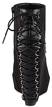 Call it SPRING Call It SpringTM Orlene Corset Wedge Booties
