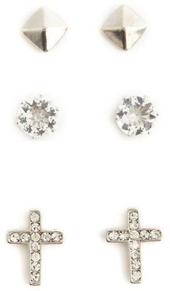 Charlotte Russe Rhinestone Cross Earring Set