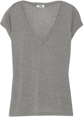 LnA Modal and cashmere-blend T-shirt
